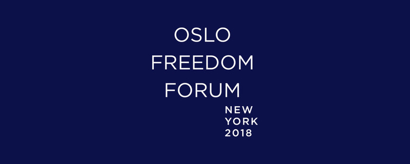 2018 Oslo Freedom Forum in New York