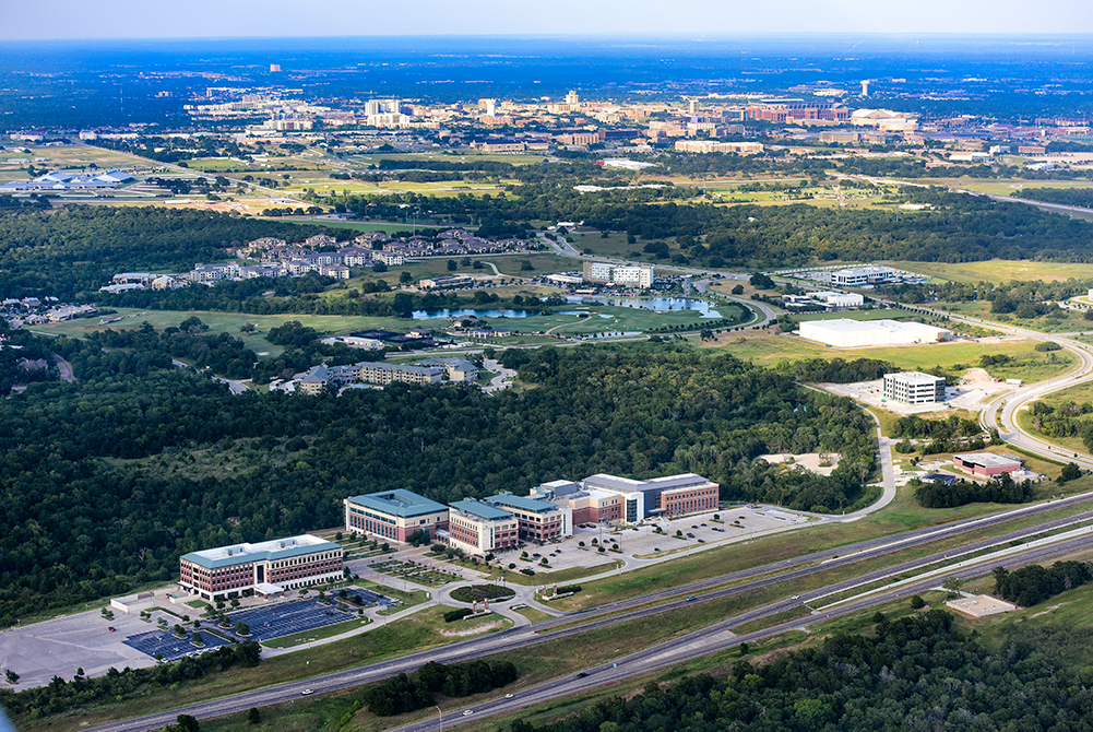 Aerial photo of Bryan-College Station campus, Texas A&M Health Science Center