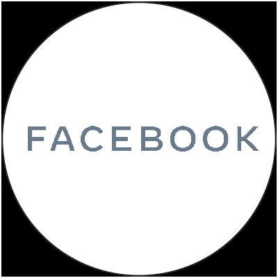 Facebook logo in circle