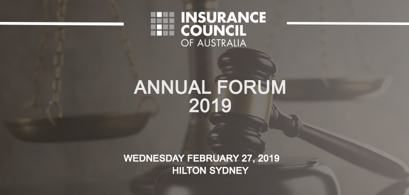 Insurance Council of Australia Annual Forum 2019