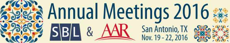 Annual Meetings 2016 hosted by SBL & AAR