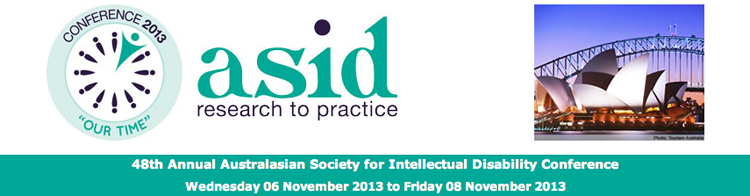 48th Annual Australasian Society for Intellectual Disability Conference